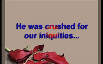 He was crushed for our iniquities