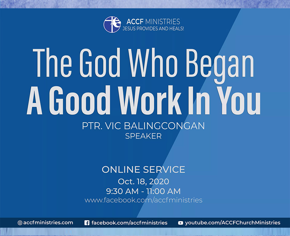 Church Online a god who began a good work in you