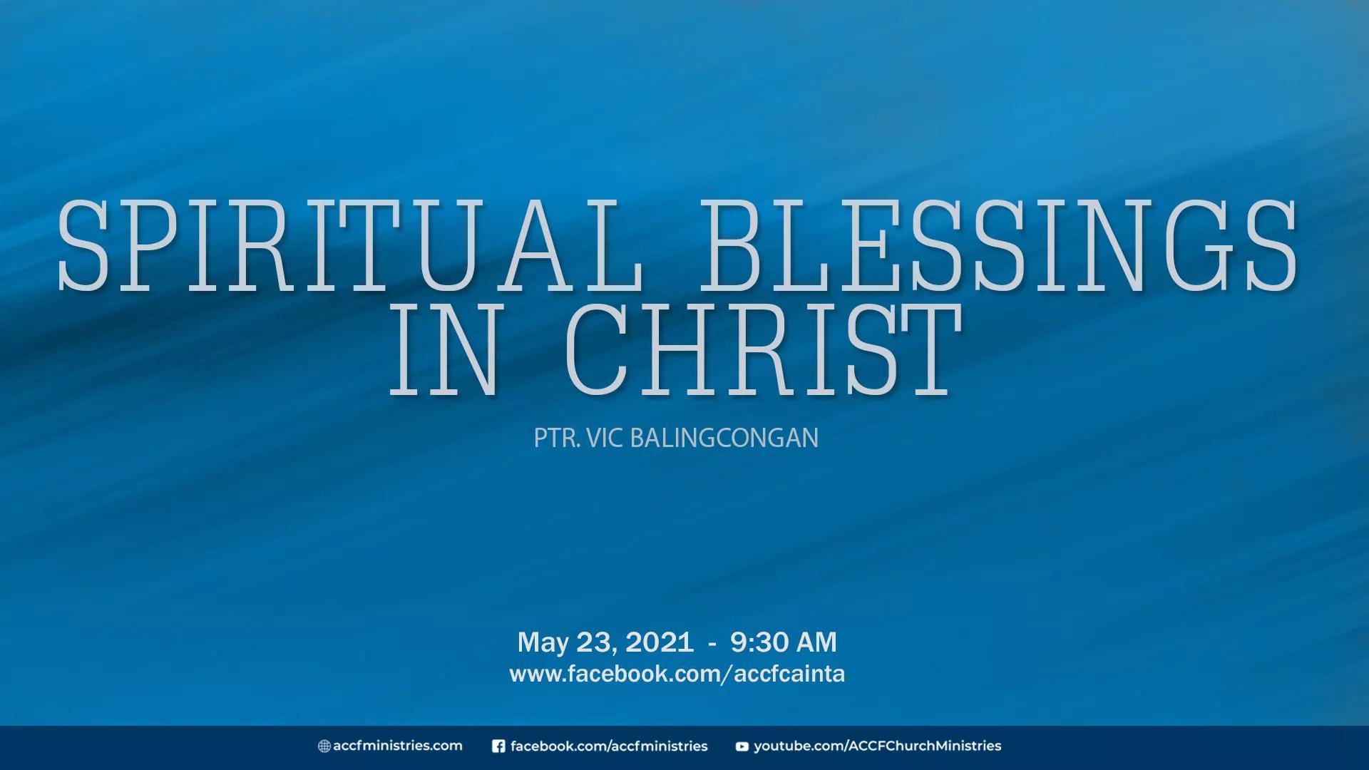 Spiritual Blessings in Christ